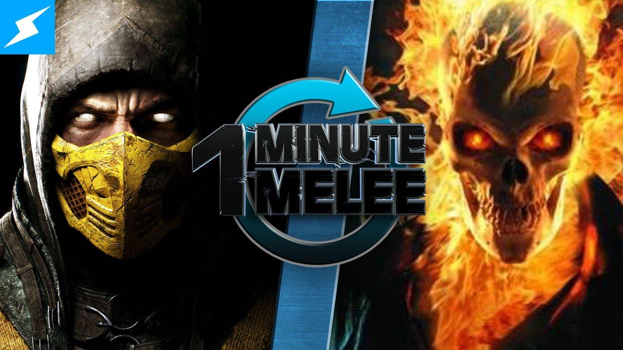 One Minute Melee - Scorpion Vs Ghost Rider (Mortal Kombat ...