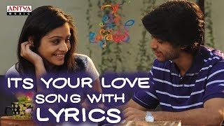 Its Your Love Full Song With Lyrics - Life Is Beautiful Songs - Shriya Saran, Sekhar Kammula