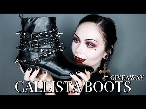 CALLISTA BOOTS - Shoe Review PLUS Giveaway Announcement! - KILLSTAR