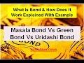 What Is Bond || Difference b/w Masala Bond, Green Bond & Uridashi Bond