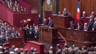 """""""Nous sommes en guerre"""" : François Hollande face au Congrès à Versailles"""