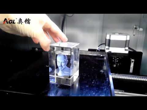 3D CO2 Laser Crystal Engraving Machine