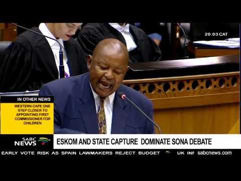 Eskom, State Capture Inquiry dominate SONA debate