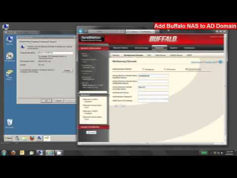 Join a Buffalo LinkStation Pro or TeraStation NAS to a Windows Active Directory Domain