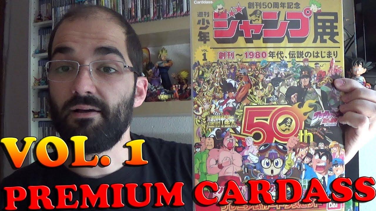 BANDAI Premium Carddass 5 Cards Set Weekly Shonen Jump 50th Anniversary PART 2