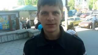 Токмак депутат Еременко и его охраник