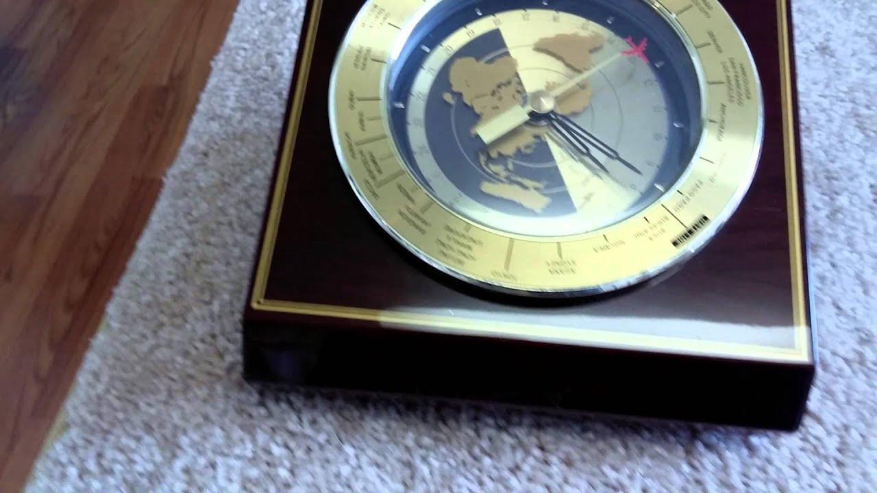 Seiko World Clock For Executive Desk Qxg325bl