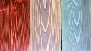 Stained Shou Sugi Ban | How to Burn Wood and add Color