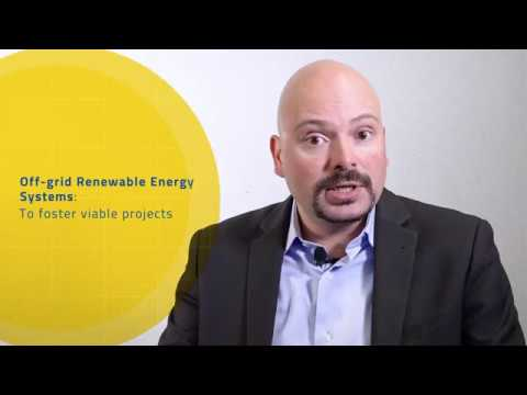 Gregoire Lena: Off-grid renewable energy systems to foster viable projects