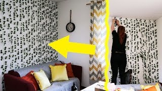 Liściasta ściana za £9 *pokój do nagrywek prawie gotowy*