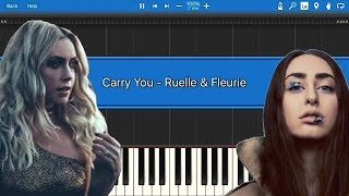 Carry You - Ruelle ft. Fleurie || Synthesia Piano Tutorial