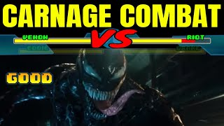 Venom vs. Riot with Healthbars   Venom (2018) Carnage Combat
