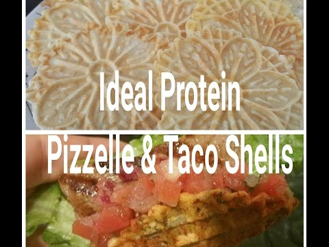 Ideal Protein & Alternatives : Pizzelle and Taco Shell Recipe / Cooking Demonstration