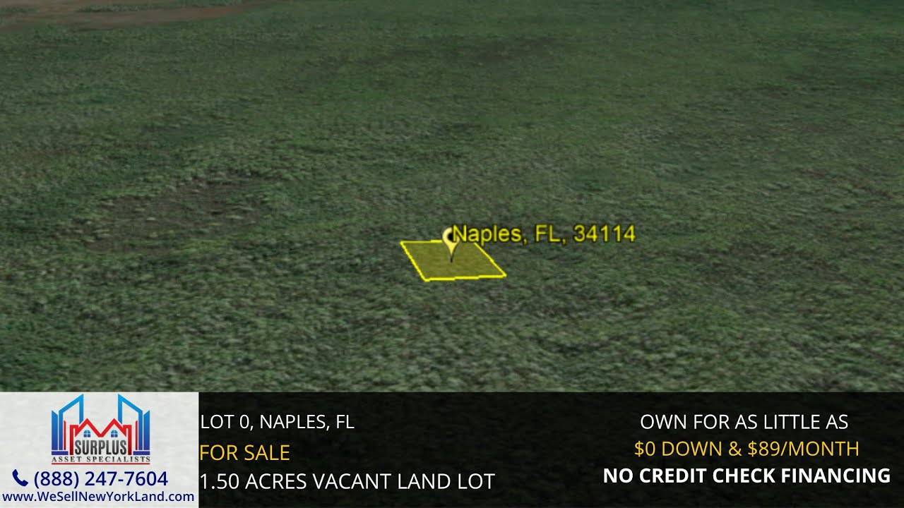 Lot 0,Naples, Fl - Florida Land For Sale - www.WeSellNewYorkLand.com