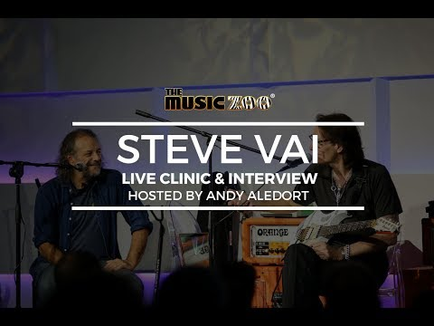 Steve Vai Live Clinic & Interview w/ Andy Aledort at The Music Zoo