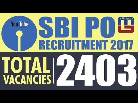 SBI PO 2017 VACANCIES DECLARED || SBI Probationary Officers  Vacancy Notification