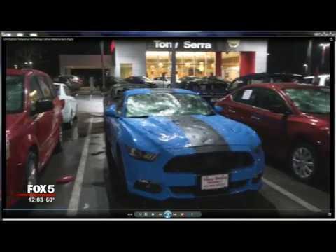 Cars Destroyed At Alabama Dealership In Hail Storm