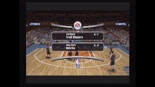 KNICKS VS TRAILBLAZERS -- NBA LIVE 08 -- PS2