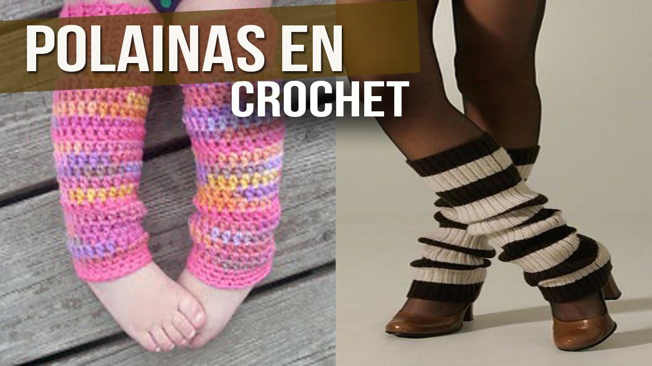 Polainas Tejidas en Crochet y dos agujas ( diseños e ideas ) - YouTube