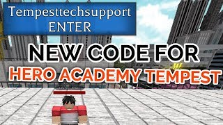 NEW SPIN CODE! | Hero Academy Tempest | ROBLOX