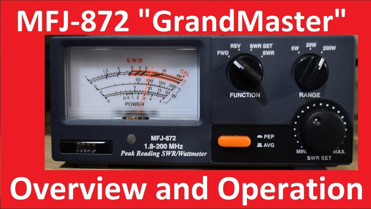 MFJ-872 GrandMaster SWR Watt Meter Overview and Demo