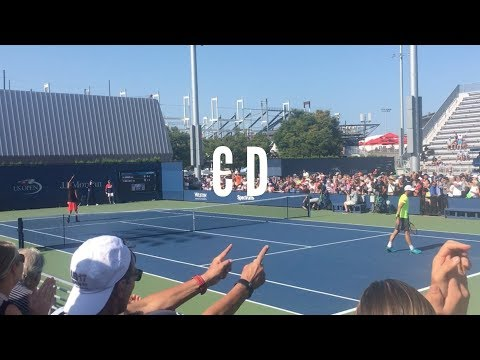 Dustin Brown Court Level Play vs Bellucci -  US Open 2017 [HD]