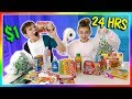 Living on ONLY Dollar Store Items for 24 Hours!   We Are The Davises