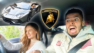FIANCÉE DRIVES MY LAMBORGHINI.. WITH NO EXPERIENCE!!!