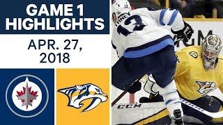 NHL Highlights | Jets vs. Predators, Game 1 - Apr. 27, 2018