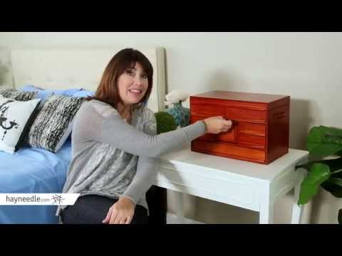 Mele Empress Walnut Wooden Jewelry Chest - 16.5W x 9.5H in. - Product Review Video
