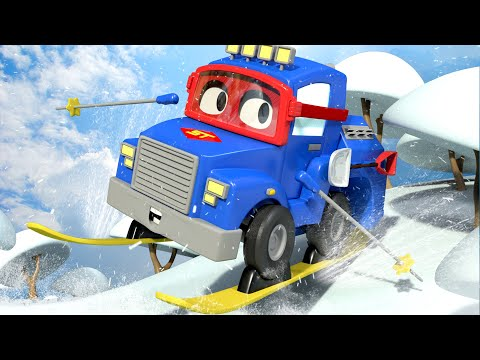The Ski Truck - Carl the Super Truck in Car City   Children Cartoons with Truck video for Kids
