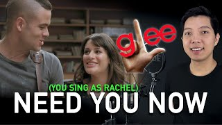 Need You Now (Puck Part Only - Karaoke) - Glee
