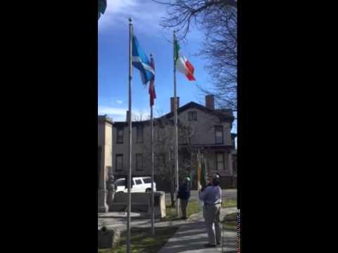 Ancient Order of Hibernians Flag Raising