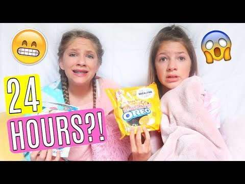 24 hours in a fort challenge ft HOPE MARIE