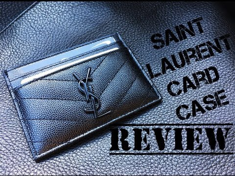 610b797067b28 Saint Laurent (YSL) Card Case Review - YouTube