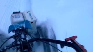 снегоход из мотоблока зимой