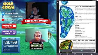 Golf Clash tips, TEXTGUIDES Walkthrough of the 2nd ANNIVERSARY tournament! With Tommy!