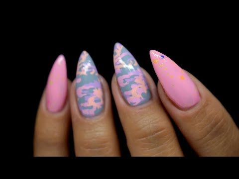 🌸PASTEL CAMO NAILS | LILLY BEAU UK | MADAM GLAM SMOOTHIE COLLECTION 🌸