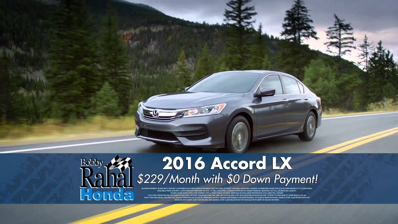 January 2016 Bobby Rahal Honda Accord Lease