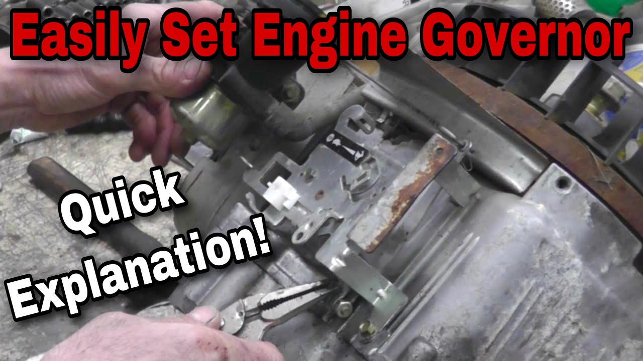 How To Properly Set The Governor On A Small Engine With Taryl 200 Hp Mercury Outboard Wiring Diagram