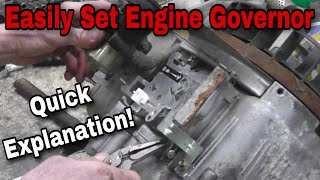 How To Properly Set the Governor On A Small Engine - With Taryl