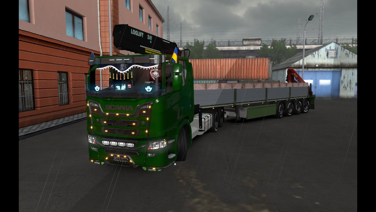 Euro Truck Simulator 2 (1 34) Scania XT Wood Scania R Truck
