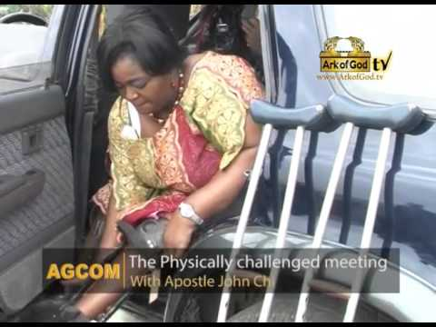 physically challenged meeting with Apostle John Chi