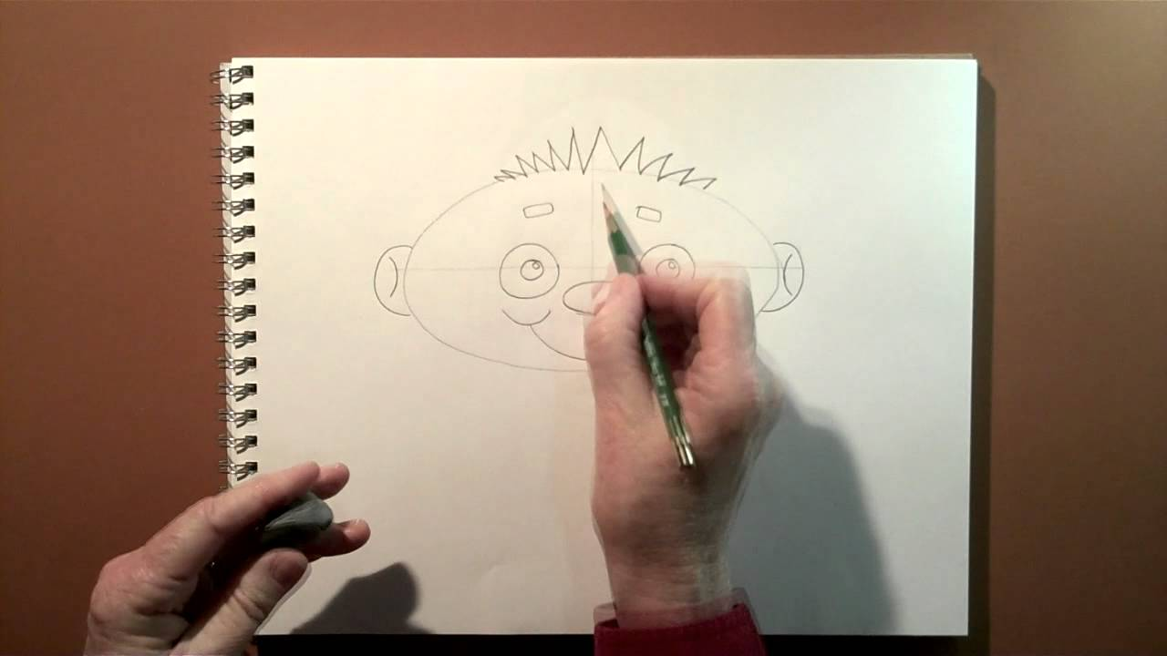 Cartooning Lesson 2: Drawing a Face with Simple Shapes - YouTube