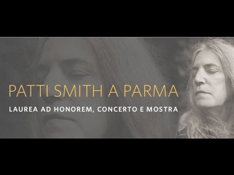 "Conferenza stampa ""Patti Smith a Parma: laurea ad honorem, concerto e mostra"""