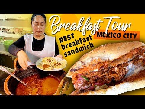 TRADITIONAL Mexican BREAKFAST in Mexico City BEST Breakfast Sandwich With La Ruta de la Garnacha