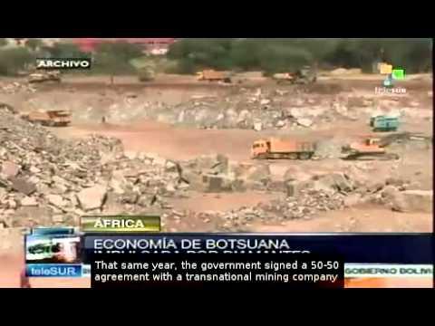 Botswana's economy dependent on diamond mines