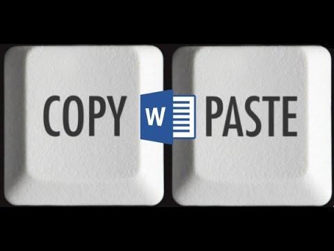 Как вставить текст в документ Word без форматирования ...