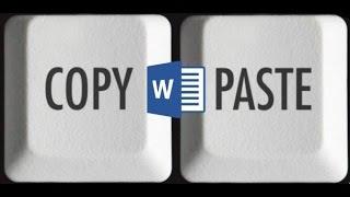 Как вставить текст в документ Word без форматирования
