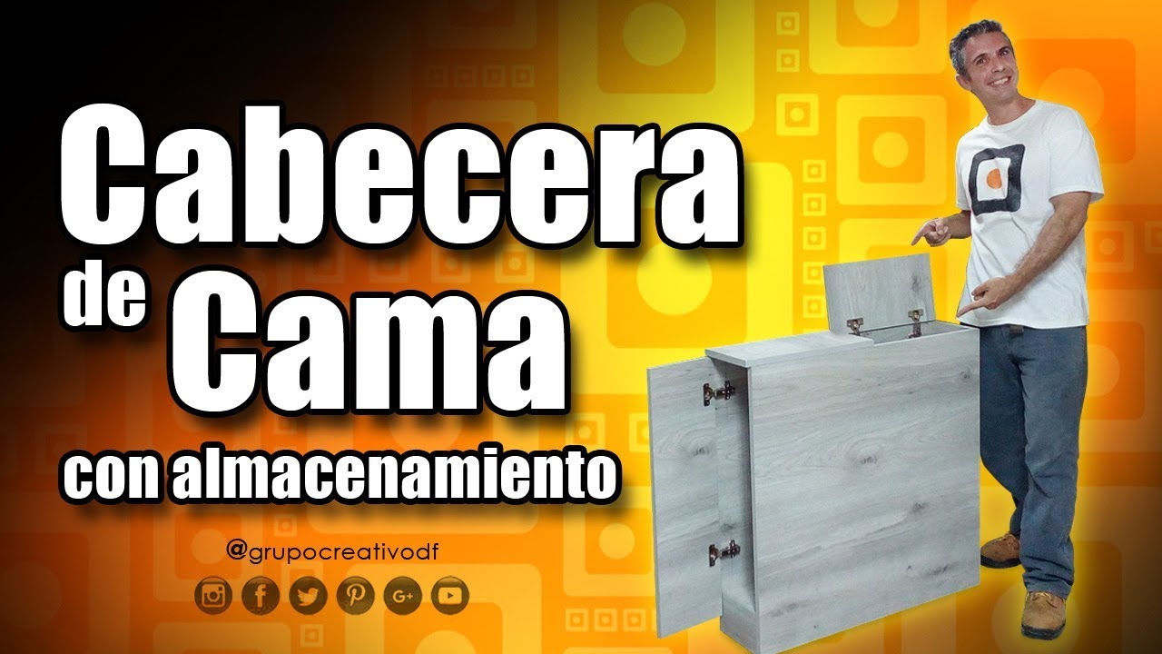 Cabecera de cama con almacenamiento - Mueble de melamina DIY - YouTube